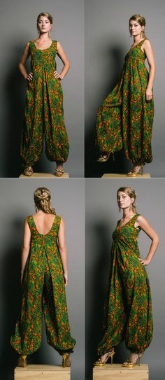 Paisley Harem Jumpsuit - hate the heels w it Diy Fashion, Ideias Fashion, Womens Fashion, Fashion Design, Sewing Clothes, Diy Clothes, Beautiful Outfits, Cool Outfits, Moda Hippie