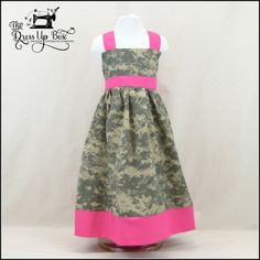 Army ACU Camo Apron Knot Dress 6m8 years by TDUBshop on Etsy, $25.00