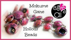 Bubbles Necklace | Polymer Clay Tutorial | Mokume Gane with Alcohol Inks...