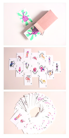 Les Animaux poker cards. Join the circus!