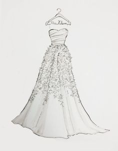 custom wedding dress sketches | visit etsy com