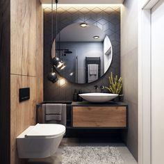 35 The Best Modern Bathroom Interior Design Ideas - Homeflish Modern Bathrooms Interior, Bathroom Design Luxury, Dream Bathrooms, Modern Bathroom Design, Amazing Bathrooms, Home Interior Design, Small Bathroom, Exterior Design, Bathroom Designs