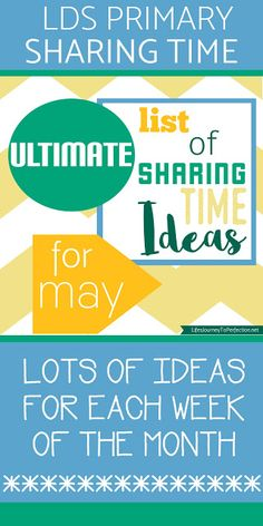 {Ultimate List} of LDS Sharing Time ideas for May 2016: The Church of Jesus Christ Has Been Restored