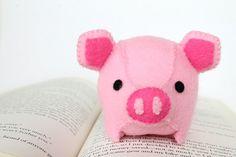 PDF Pattern - Felt Pig Plush