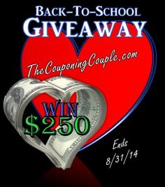 $ 250 Back to School Giveaway from TheCouponingCouple