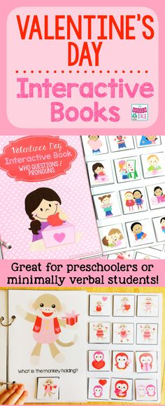 Valentine's Day Interactive Books are a great way to work on pronouns and vocabulary.  These are a great resource to add to your SLP toolkit!