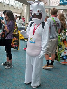 rabbid by darktruth via flickr - Raving Rabbids Halloween Costume