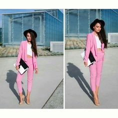 Love the pink suit  and the hat