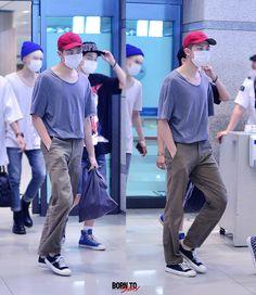 [AIRPORT] 150617: BTS Rap Monster (Kim Namjoon) at Incheon Airport