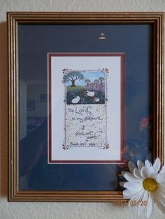 The Lord is my shepherd Framed art RELOVED by SuzyQsVintageShop, $12.00