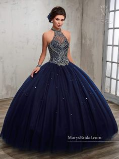 Beaded A-line Quinceanera Dress by Mary's Bridal Princess 4Q503