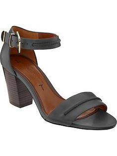 Peyton high heel sandal banana republic $120.  Great quality and comfortable to wear day to evening.  I bought these in English saddle...love!!!