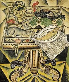The Table (Still Life with Rabbit) - Joan Miró, 1920