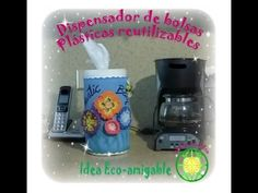 Dispensador de bolsas plásticas reutilizables / Reusable plastic bags di... Ideas Para Organizar, Helpful Hints, Lunch Box, Organization, Videos, Youtube, How To Make, Diy, Ikea