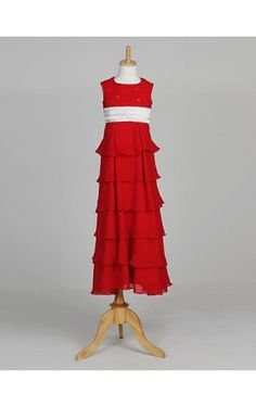 Sleeveless Chiffon Wedding/Evening Flower Girl Dress