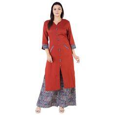 fb638e04d Khushal K Women s Printed Kurta with Palazzo set  Amazon.in  Clothing  amp