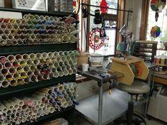 My lampworking workspace - Sandy  Burnett, Glassmoose.com