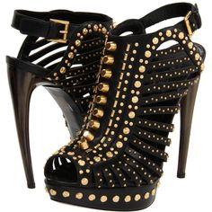Alexander McQueen Studded Cage Pump With Horn Heel.......hotnessssss