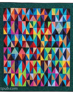 Half rectangle triangles from Wonderful One-Patch Quilts - Triangles, Half-Hexagons, Diamonds & More by Sarah Nephew and Marci Baker