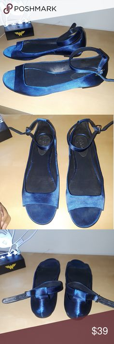 Nicole Miller Satin Royal Blue Flat Size 7 Beautiful flats in satin and in mint condition.. Only worn 2x.. You will love these... Size 7  Thank you for checking out my closey and please check out my other listings for more clothes, shoes and accessories.. Nicole Miller Shoes Flats & Loafers