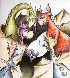 My newest book, The Unhappy Little Dragon, Lessons Learned