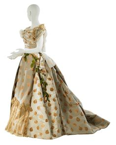 Worth evening dress, 1888 from the Museum of the City of New York