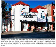 The Joyo Theater, where I first saw RHPS on the big screen & met all my wonderful Lincoln Nebraska friends!