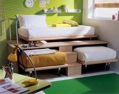 Aynı odada iki kişi kalmak zorunda olanlar için ideal fikir.