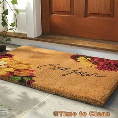 Would you choose a doormat from natural fibers?