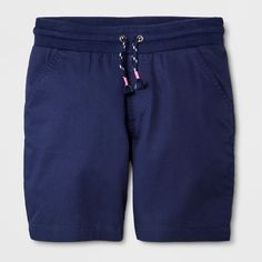 Girls' Twill Bermuda Chino Shorts - Cat & Jack™ - image 1 of 2