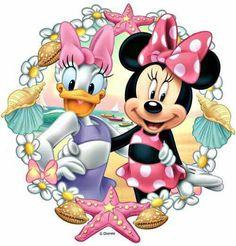 Disney's Daisy Duck & Minnie Mouse Disney Mickey Mouse, Mickey Mouse E Amigos, Minnie Mouse Pink, Mickey Mouse And Friends, Disney Collage, Disney Art, Walt Disney, Wallpaper Do Mickey Mouse, Disney Wallpaper