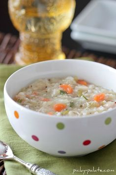 Chicken & Rice Soup - great for leftover rice, or leftover Turkey at Thanksgiving
