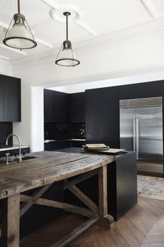 See more of this gorgeous contemporary kitchen which was built in the and the rest of the house which was turned into 3 apartments then fully restored into 1 big family home! Big Family, Home And Family, Luxury Kitchens, Dark Kitchens, New Kitchen Designs, Contemporary, Modern, Luxury Homes, Restoration
