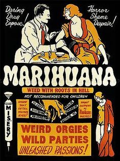Propaganda drug abuse marijuana weed #weird cool art #poster #print lv6972,  View more on the LINK: 	http://www.zeppy.io/product/gb/2/121751242058/