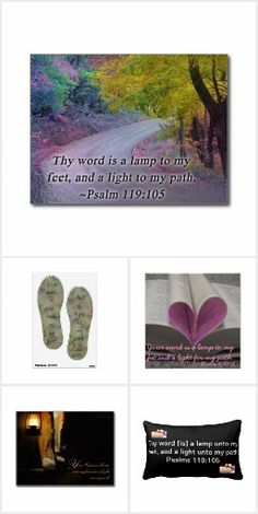 Thy word is a lamp unto my feet, and a light unto my path. Psalm 119:105 This is a collection of bible verse art created by a variety of talented artist. These items are wonderful for home, office,church and school and also make great gifts.