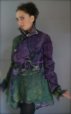 Nuno Felted ButterflyJacket Size M a SugarPlum Original by J. Gauger. $1,500.00, via Etsy.