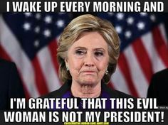 Hillary Clinton was nowhere near Washington the day charges against President Trump's former campaign chairman were announced and news … Source: Hillary Clinton on the conservative media: 'It appears they don't know I'm not president' Crooked Hillary, Im Grateful, Thankful, Our President, It Goes On, Presidential Election, Thank God, Way Of Life, We The People