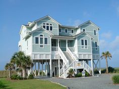 Holden Beach, NC - Benvenuto 1359 a 8 Bedroom Oceanfront Rental House in Holden Beach, part of the Brunswick Beaches of North Carolina. Includes Elevator, Private Pool, Hi-Speed Internet