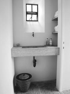 Sink and shelves detail Bathroom Taps, Modern Bathroom, Small Bathroom, Bathrooms, Bathroom Inspiration, Interior Inspiration, Toilet Room, Small Room Design, Shower Enclosure