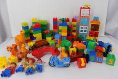 Lego Duplo Building Blocks 140+ Pieces Motorcycle Dinosaurs Minifigs  #C #LegoDuplo