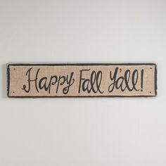 Happy Fall Y'all Board