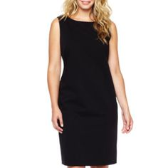 "<p>Minimalist and sophisticated, our stretch-knit boatneck sheath dress makes an all-business, professional impression.</p><div style=""page-break-after: always"