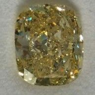 Other - Cushion cut natural fancy yellow diamond of 21.01 ct