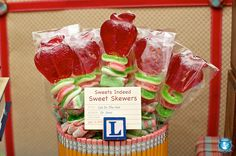 candy skewers!  Maybe with sharks and swedish fish, etc?