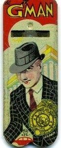 Vintage 1940s Junior G-Man Tin Whistle