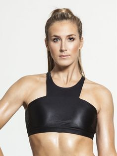 51ffd9e3be3af Ion Full Support Sport Bra in Black by Carbon38 from Carbon38 High Neck Bra