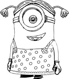 The Mark Maid and Golfer Phil Minion Coloring Page Kleurplaten