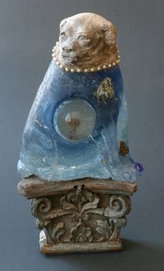 Made by: Christina Bothwell , (Blue dog - no further information with this work, maybe later). New work 2-2014