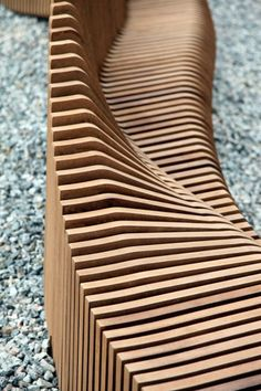 Urban Adapter by Rocker-Lange Architects - Dezeen Urban Furniture, Street Furniture, Furniture Design, Bridge Design, Facade Design, Space Architecture, Architecture Details, Curved Wood, Parametric Design