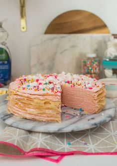 Oh Joy Funfetti Mille Cake Party Photography, Creative Photography, Vanilla Cake, Food And Drink, Joy, Sweets, Entertaining, Breakfast, Desserts